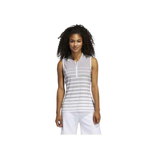 adidas Engineered Stripe Sleeveless Poloshirt Damen Ärmellos