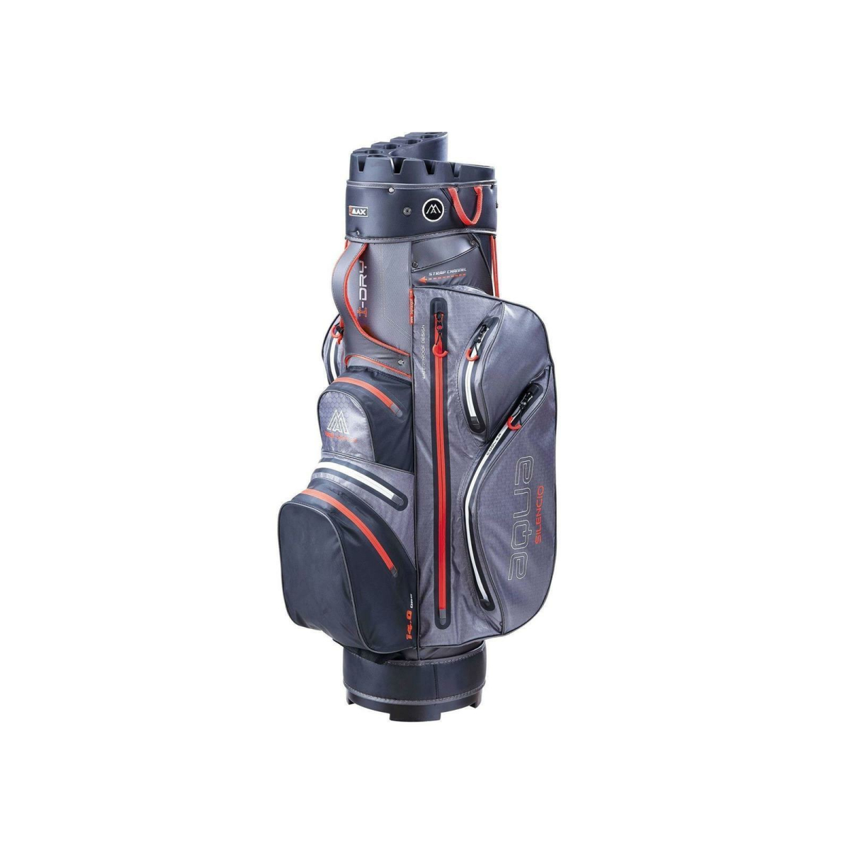 BIG MAX Cartbag Aqua Silencio 3 charcoal-black-red