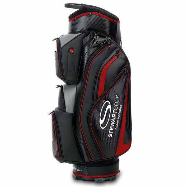 Stewart Golf Pro Staff Cartbag Black/Red
