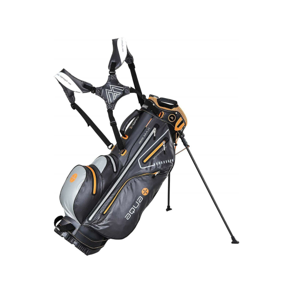 Big Max Golfbag Carrybag Aqua 8  Charcoal-silver-orange