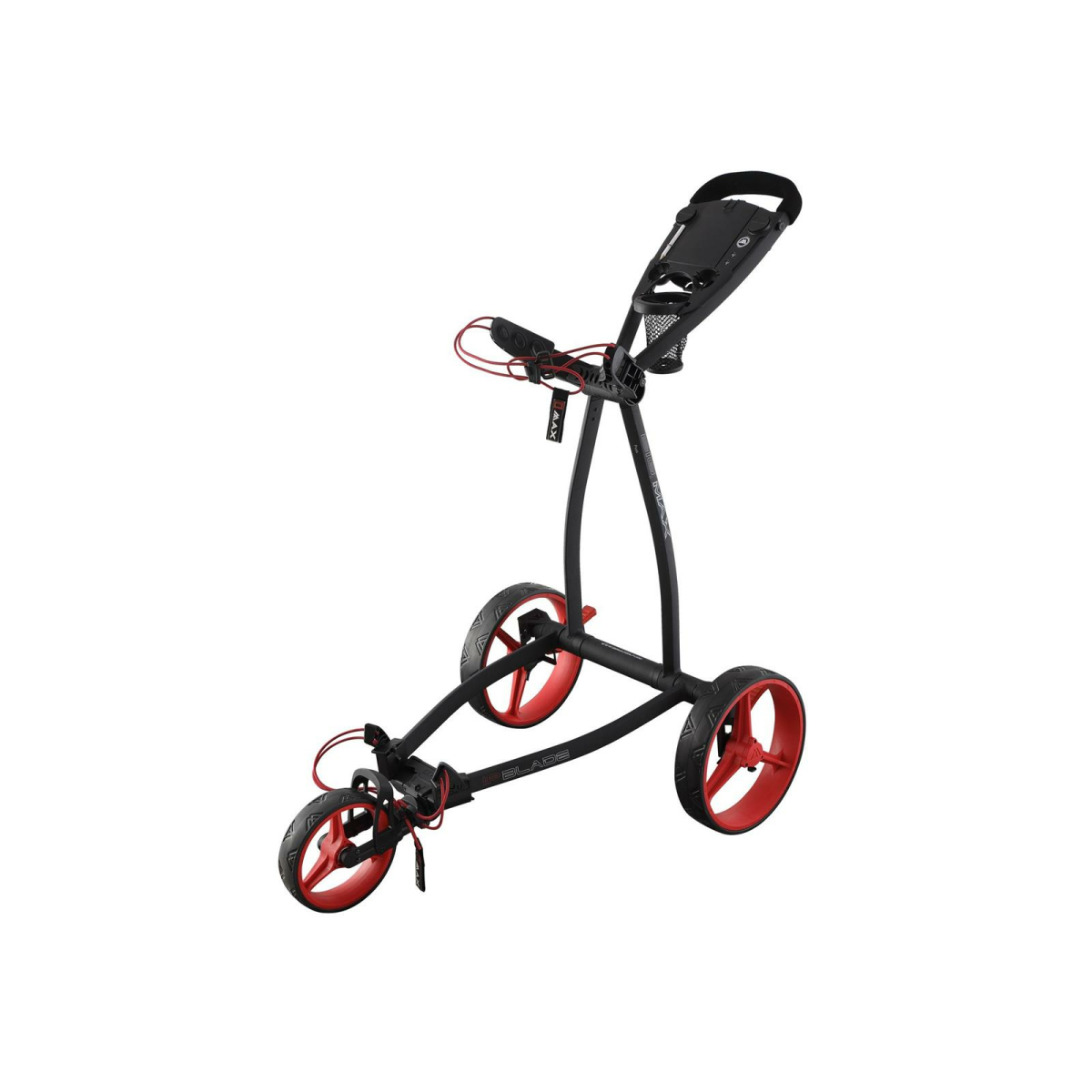 Big Max Golf Trolley Blade IP 3 Rad Flat faltbar Phantom-Red